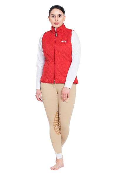 Ladies Spinnaker Micro Suede Vest - Equine Couture - Breeches.com