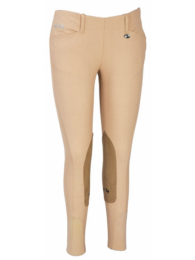 Equine Couture Ladies Coolmax Champion Side Zip Breeches with CS2 Bottom - Breeches.com