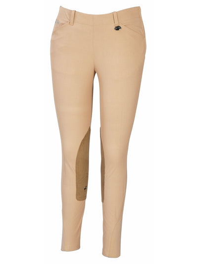 Ladies Coolmax Champion Side Zip Breeches With Euroseat - Equine Couture - Breeches.com