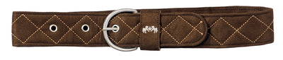 Equine Couture Diamond Quilted Suede Belt with Diagonal Line - Equine Couture - Breeches.com