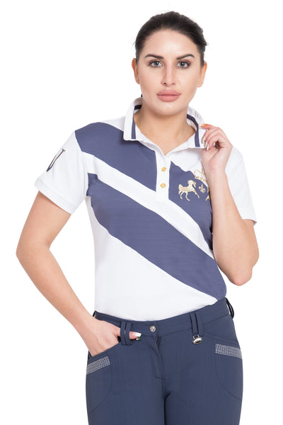Equine Couture Ladies X-Press Short Sleeve Polo Sport Shirt - Equine Couture - Breeches.com