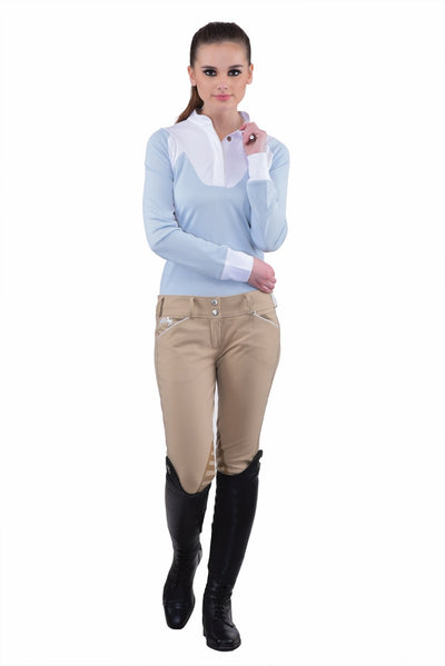 Equine Couture Ladies Brittni Silicone Knee Patch Breeches_25