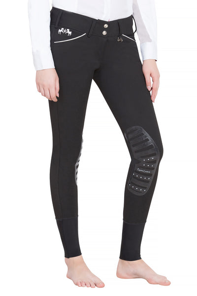 Equine Couture Ladies Brittni Silicone Knee Patch Breeches_13