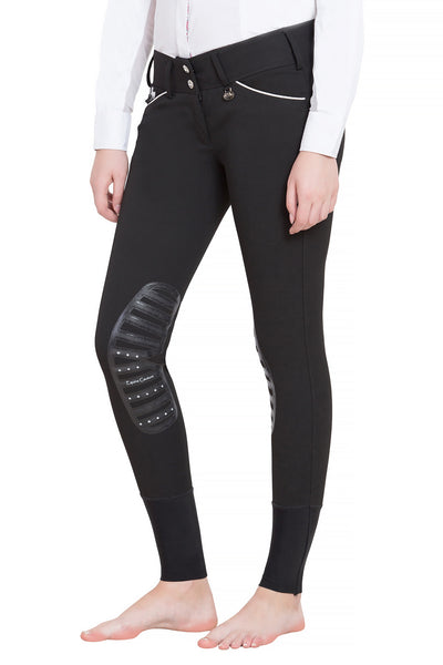 Equine Couture Ladies Brittni Silicone Knee Patch Breeches - Equine Couture - Breeches.com
