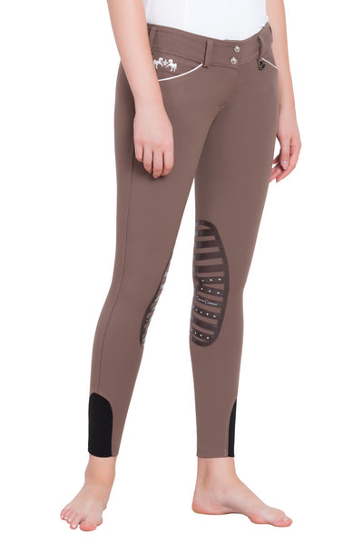 Equine Couture Ladies Brittni Silicone Knee Patch Breeches_21