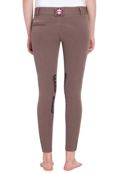 Equine Couture Ladies Brittni Silicone Knee Patch Breeches_22