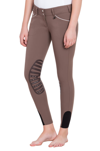 Equine Couture Ladies Brittni Silicone Knee Patch Breeches_19