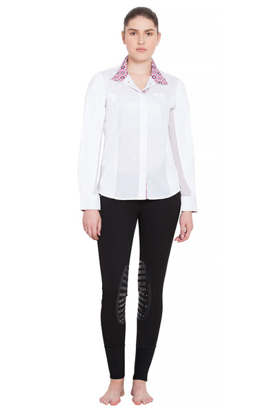 Equine Couture Ladies Kelsey Long Sleeve Show Shirt - Equine Couture - Breeches.com