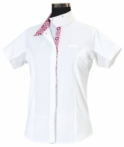 Equine Couture Ladies Kelsey Short Sleeve Show Shirt - Equine Couture - Breeches.com