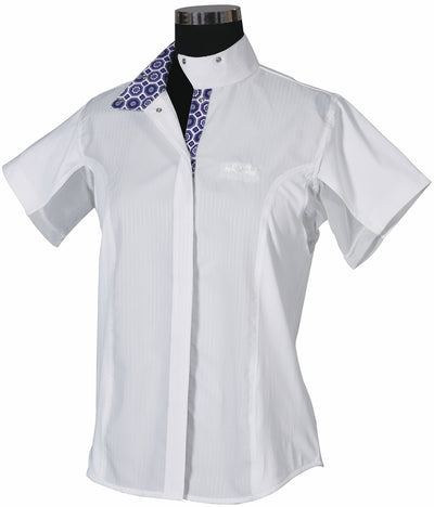 Ladies Kelsey Short Sleeve Show Shirt - Equine Couture - Breeches.com