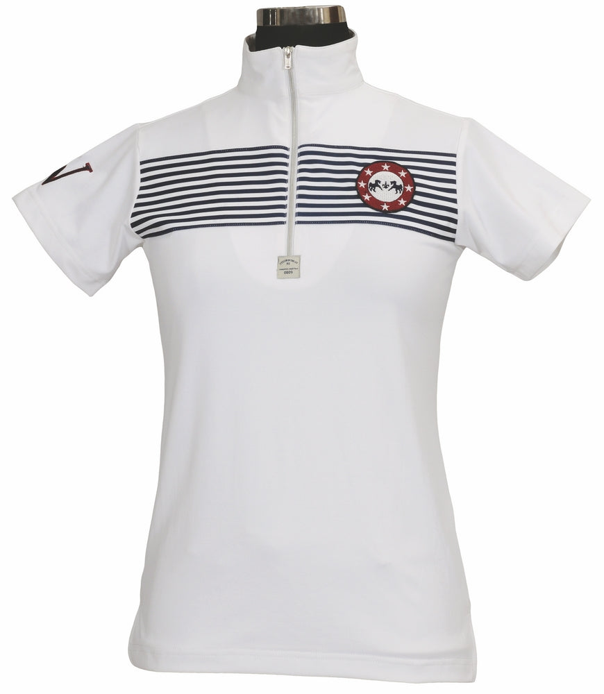 Equine Couture Children's Patriot Short Sleeve Polo - Breeches.com