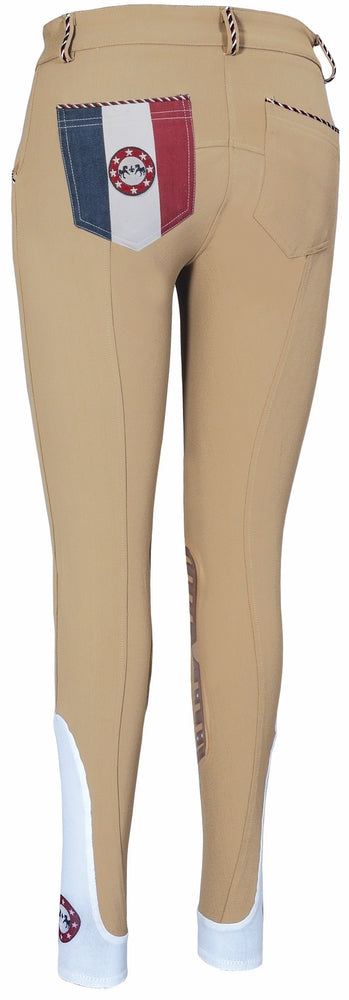 Equine Couture Ladies Centennial Knee Patch Breeches - Equine Couture - Breeches.com