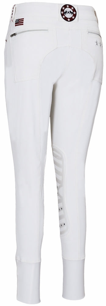 Equine Couture Children's Stars & Stripes Knee Patch Breeches - Breeches.com