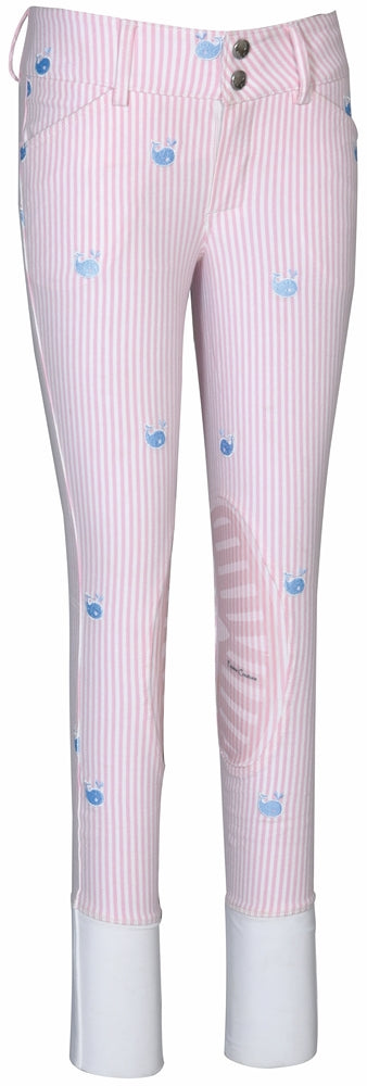 Equine Couture Children's Stripe Whales Breeches - Equine Couture - Breeches.com