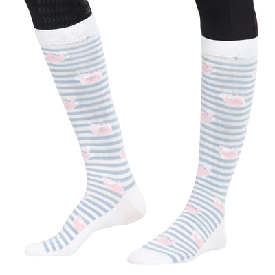 Equine Couture Ladies Whales Bamboo Knee Hi Socks - 3 Pack_5
