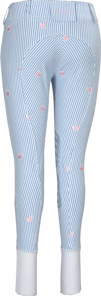Equine Couture Ladies Stripe Whales Breeches - Equine Couture - Breeches.com