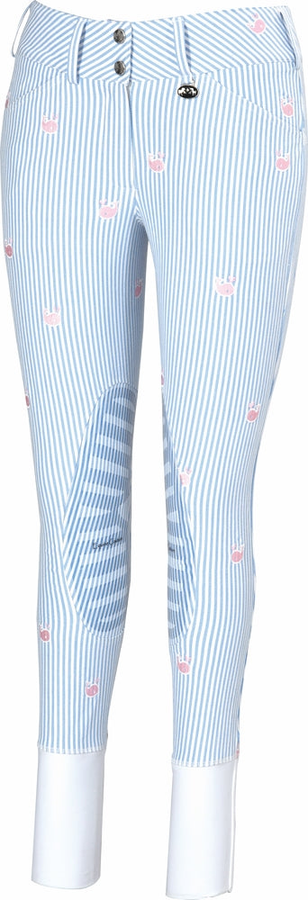 Ladies Stripe Whales Breeches - Equine Couture - Breeches.com