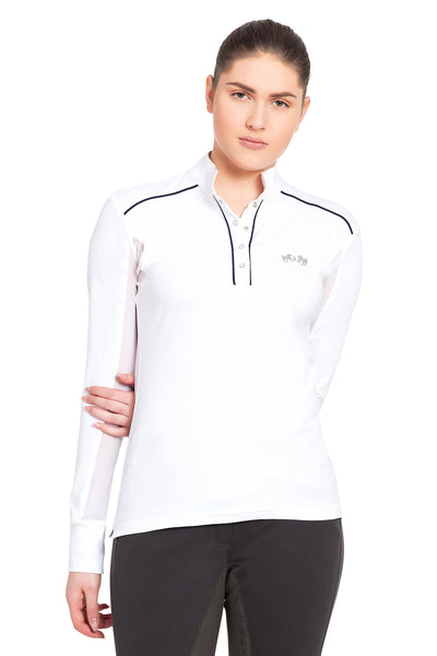 Equine Couture Ladies Rio Long Sleeve Show Shirt - Equine Couture - Breeches.com