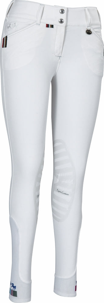 Equine Couture Ladies Brinley Silicone Knee Patch Breeches - Equine Couture - Breeches.com