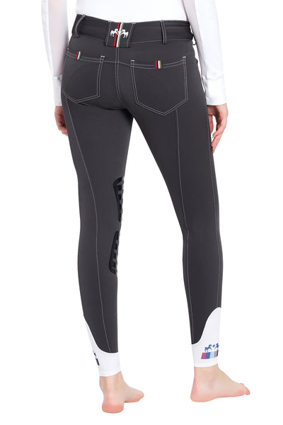 Equine Couture Ladies Brinley Silicone Knee Patch Breeches_7