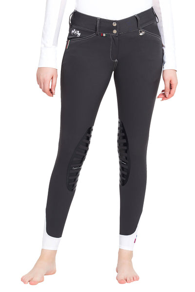 Equine Couture Ladies Brinley Silicone Knee Patch Breeches_5