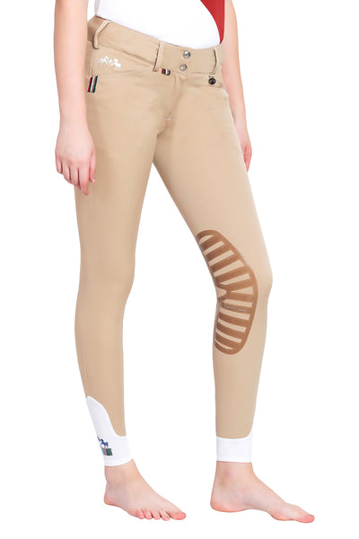 Equine Couture Ladies Brinley Silicone Knee Patch Breeches_10