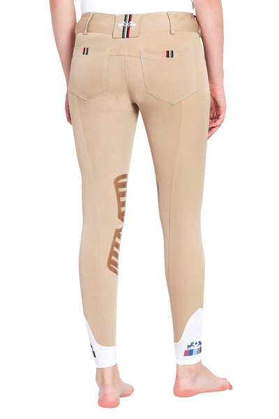 Equine Couture Ladies Brinley Silicone Knee Patch Breeches_11