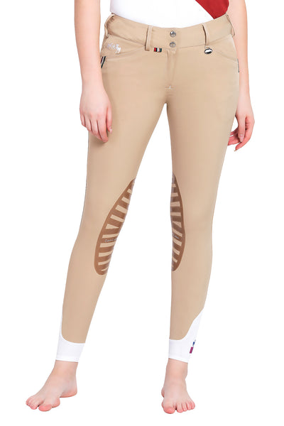 Equine Couture Ladies Brinley Silicone Knee Patch Breeches_9