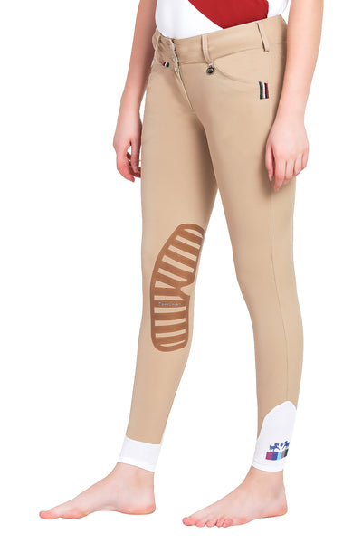 Equine Couture Ladies Brinley Silicone Knee Patch Breeches_8