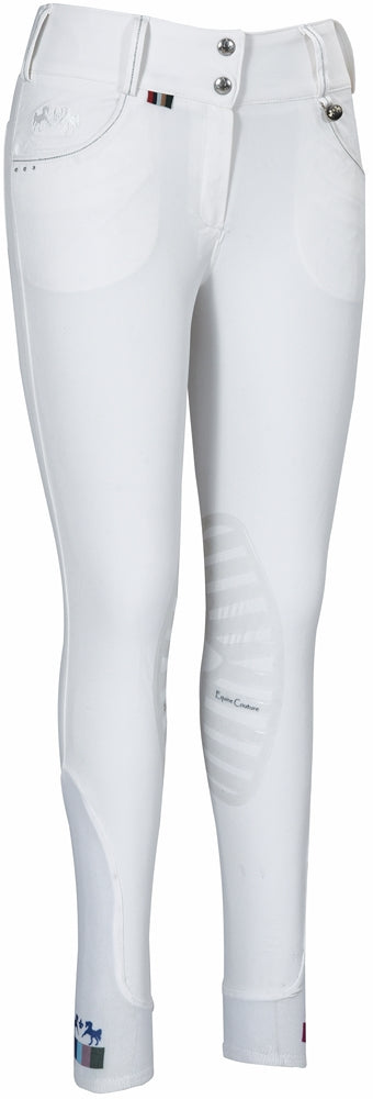 Equine Couture Ladies Darsy Silicone Knee Patch Breeches - Equine Couture - Breeches.com