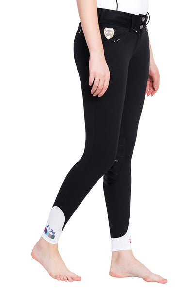 Equine Couture Ladies Fiona Silicone Knee Patch Breeches_5