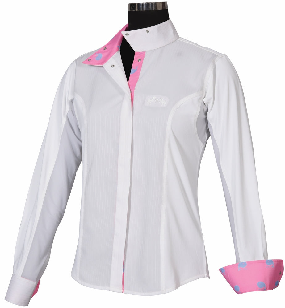 Equine Couture Ladies Whales Show Shirt - Equine Couture - Breeches.com