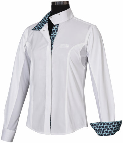 Equine Couture Ladies Geo Show Shirt_1