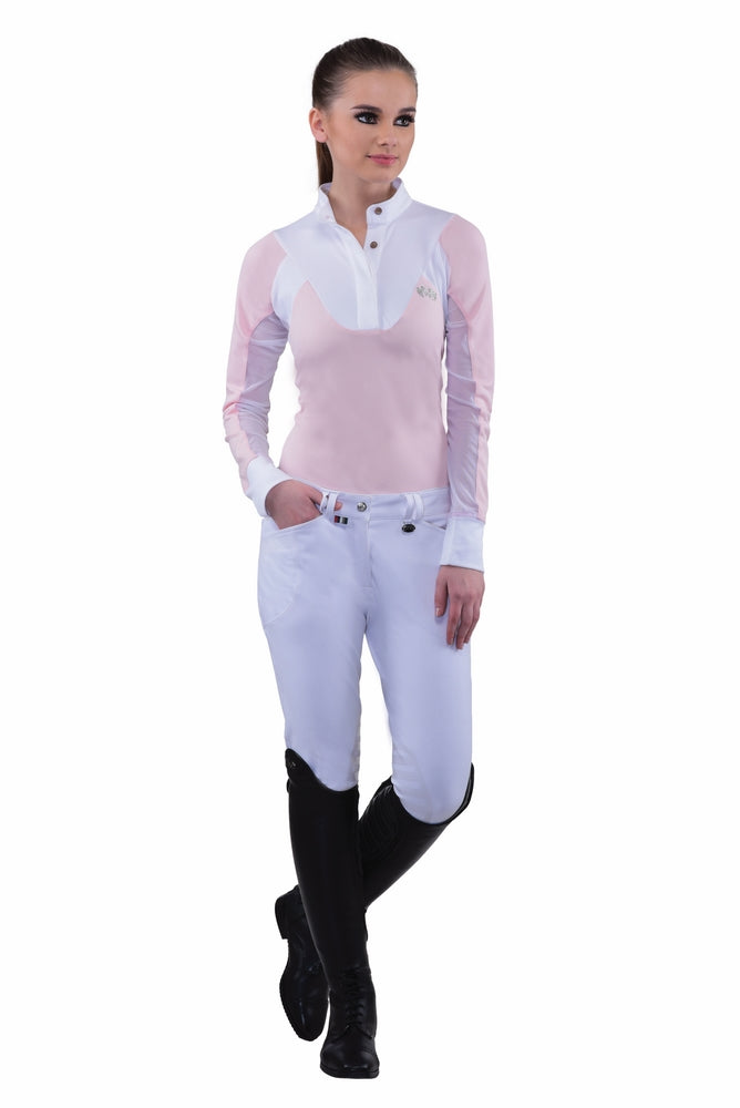 Equine Couture Ladies Sarah Silicone Knee Patch Breeches_2