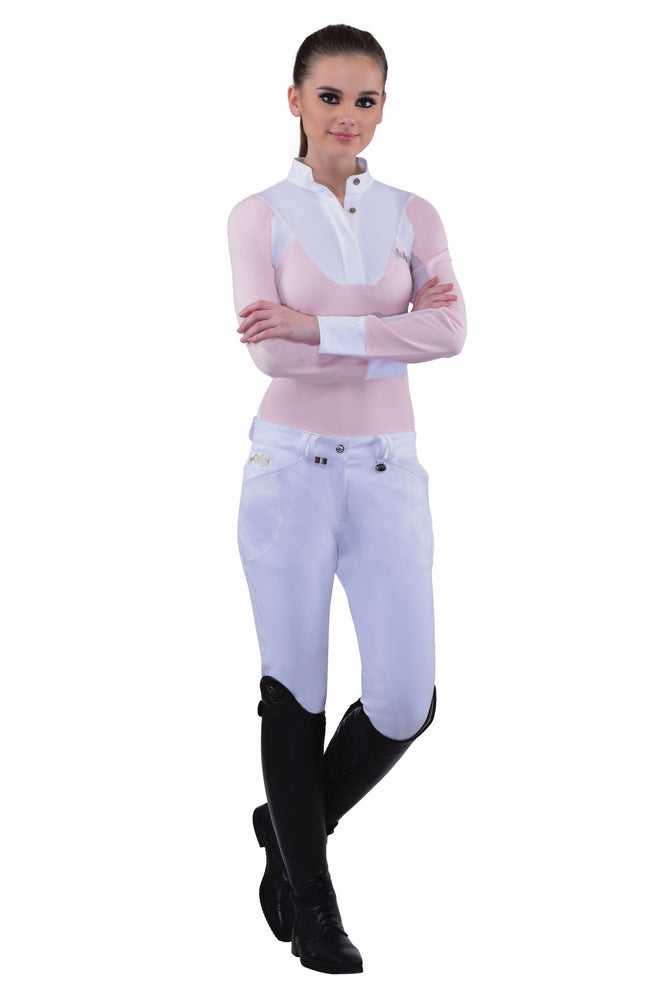 Equine Couture Ladies Sarah Silicone Knee Patch Breeches_1
