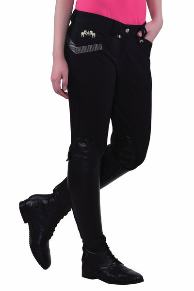 Equine Couture Ladies Sarah Silicone Knee Patch Breeches_14