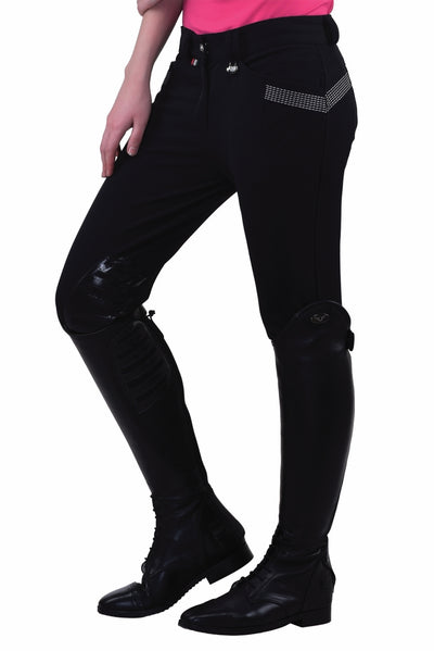 Equine Couture Ladies Sarah Silicone Knee Patch Breeches_15