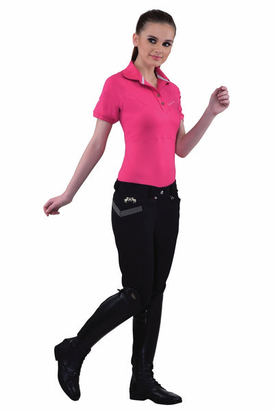 Equine Couture Ladies Sarah Silicone Knee Patch Breeches_12