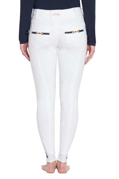Equine Couture Ladies Sophie Silicone Knee Patch Breeches_4