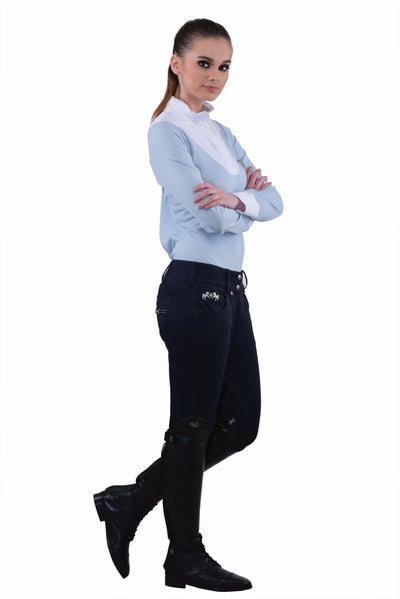 Equine Couture Ladies Sophie Silicone Knee Patch Breeches_10