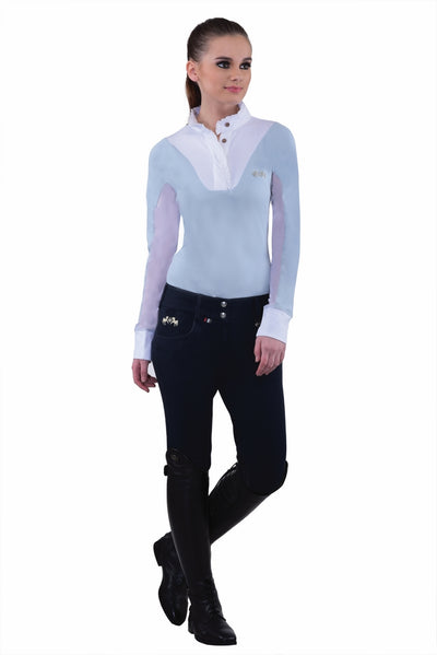 Equine Couture Ladies Sophie Silicone Knee Patch Breeches_9