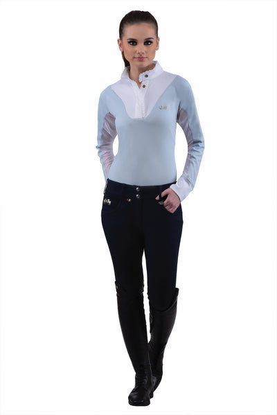 Equine Couture Ladies Sophie Silicone Knee Patch Breeches_7