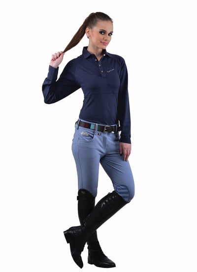 Equine Couture Ladies Sophie Silicone Knee Patch Breeches_16
