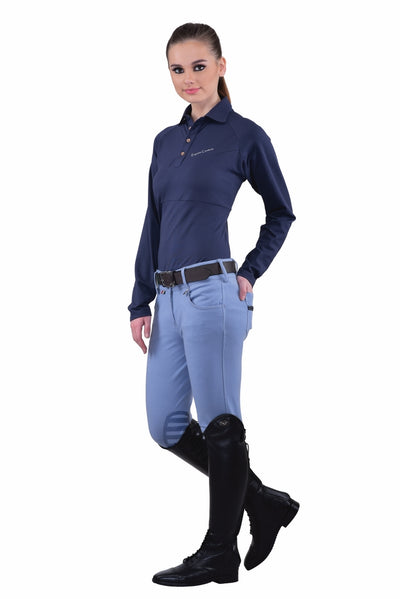 Equine Couture Ladies Sophie Silicone Knee Patch Breeches_17