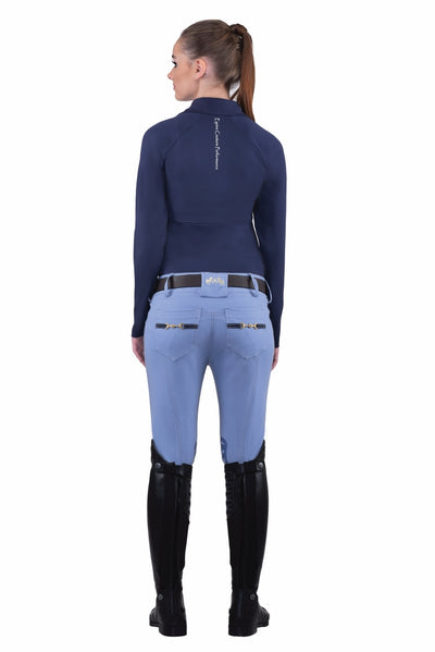 Equine Couture Ladies Sophie Silicone Knee Patch Breeches - Breeches.com