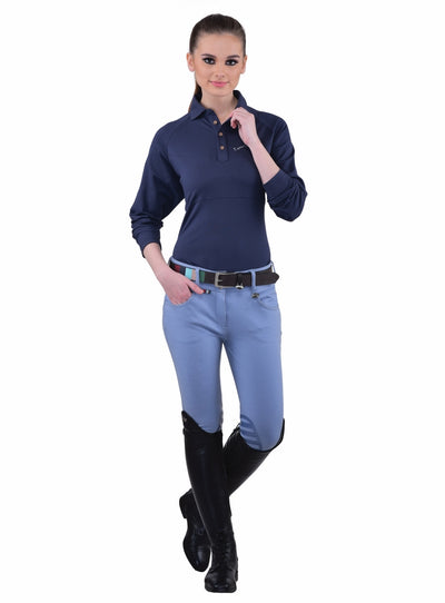 Equine Couture Ladies Sophie Silicone Knee Patch Breeches_14