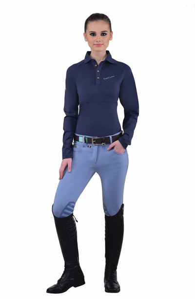 Equine Couture Ladies Sophie Silicone Knee Patch Breeches_13