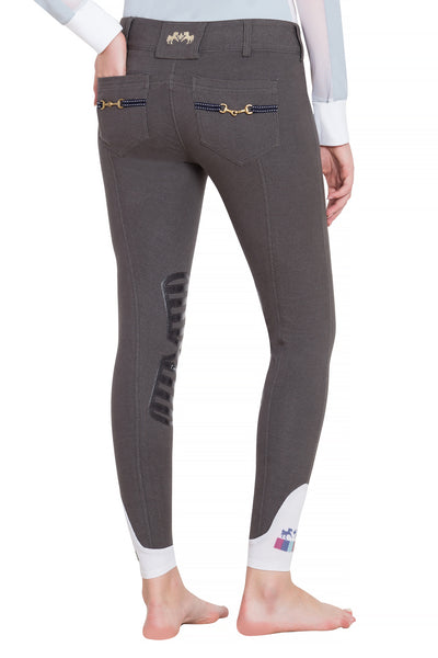 Equine Couture Ladies Sophie Silicone Knee Patch Breeches_22