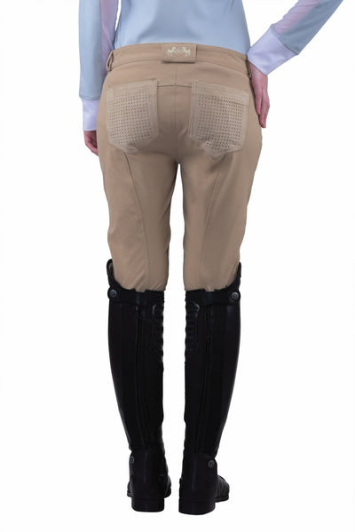 Equine Couture Ladies Oslo Silicone Knee Patch Breeches - Equine Couture - Breeches.com