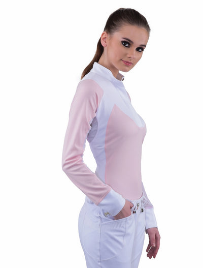 Equine Couture Ladies Maggie Long Sleeve Show Shirt - Equine Couture - Breeches.com